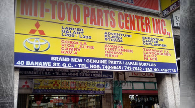 Metro Auto Parts >> Mit-Toyo Part Center Inc. | Banawe Online