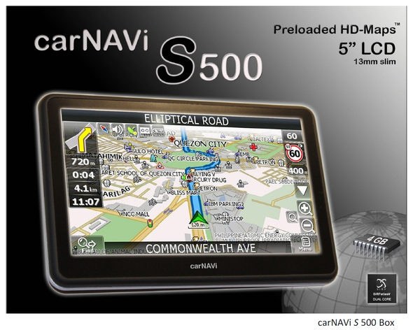 carNAVi S500 box